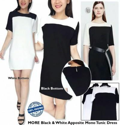 Middi Dress Casual Tunic Diagonal Branded Murah