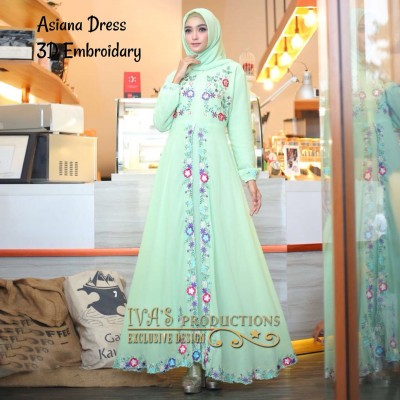 Gamis Syari Asiana Dress By Ivas Production